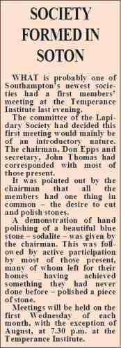 Newspaper clipping from 1971